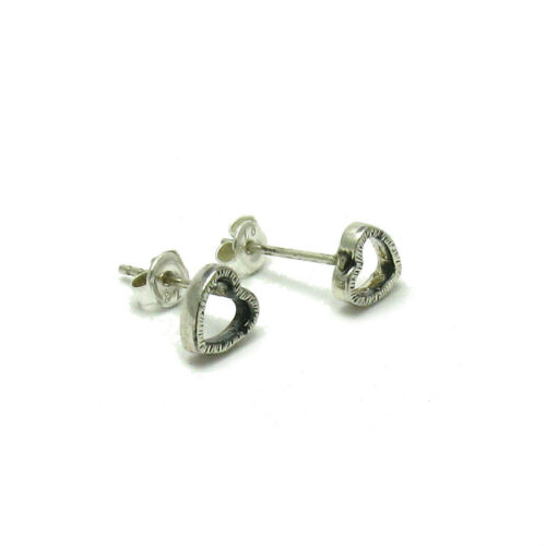 Sterling Silver Earrings Hearts Hallmarked Solid 925 New Perfect Quality Empress