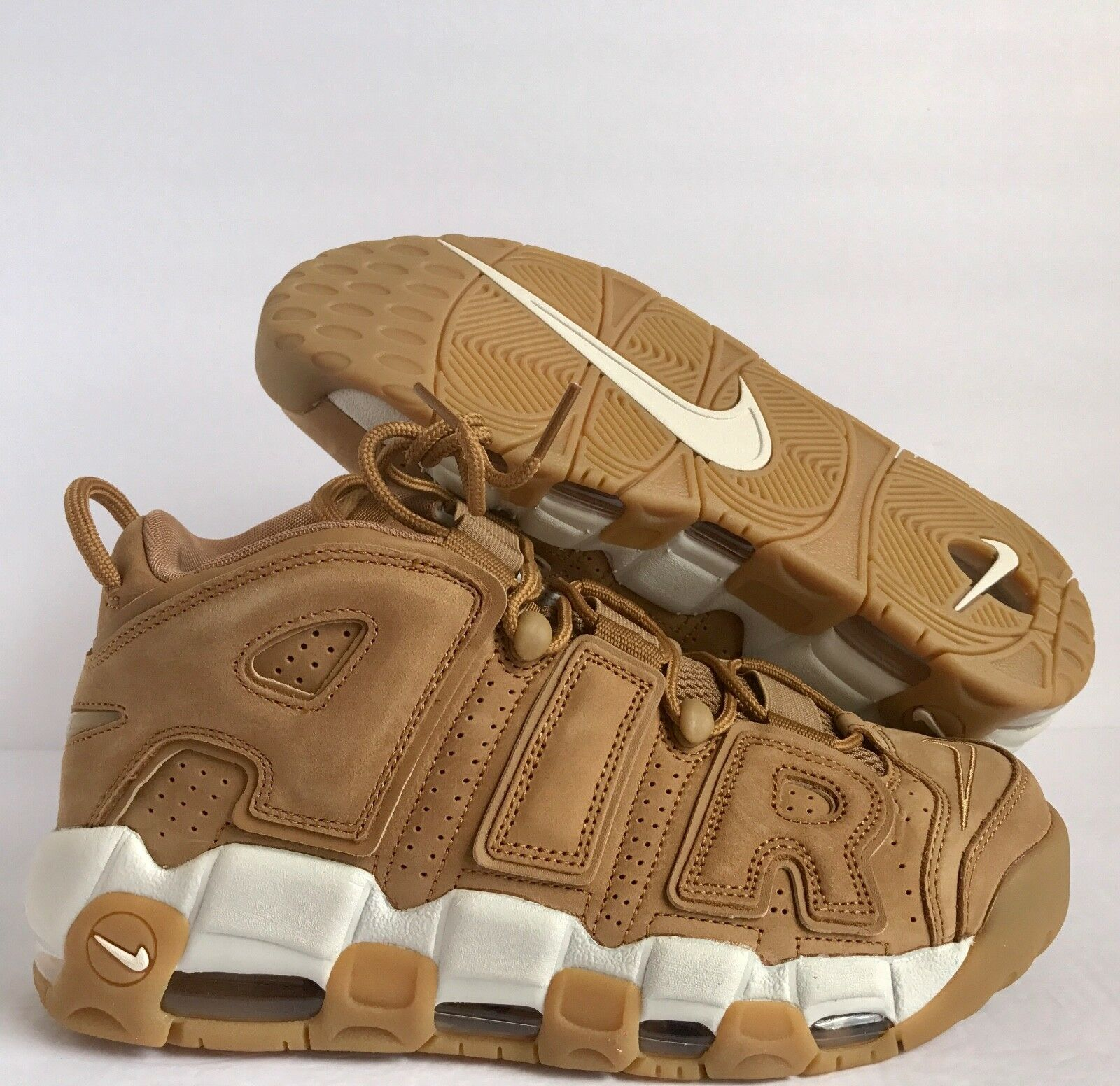 NIKE AIR MORE UPTEMPO '96 PRM WHEAT FLAX/FLAX-PHANTOM SZ 12