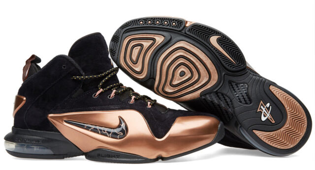 ac4935f8c2f8 Nike Zoom Penny VI 6 Copper Mens Retro Basketball Shoes Black 9 for ...