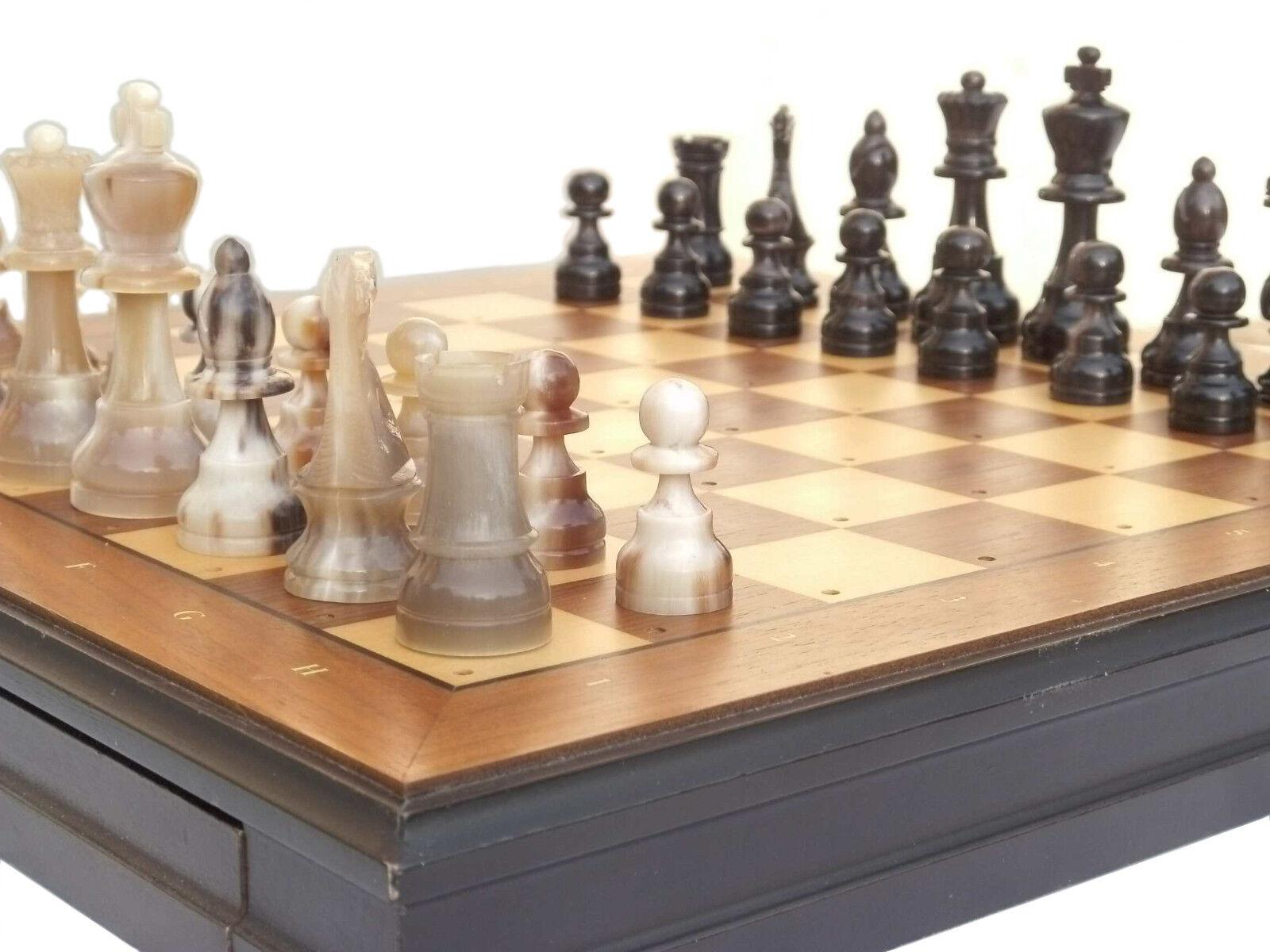 Edle Edle Edle Schachfiguren aus Horn Büffelhorn Handgefertigt  Extrem Hochwertig a28f40