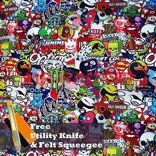 "*24""x60"" JDM Cartoon Stickerbomb Car Laptop Vinyl Sticker Wrap Decal Sheet #ST"