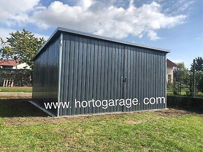 4x4 R7016 Mehrzweck Blechgarage Fertiggarage Gartenschuppe Lager Container Neu