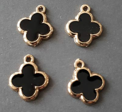 8pcs-You pick the color-enamel clover Charm