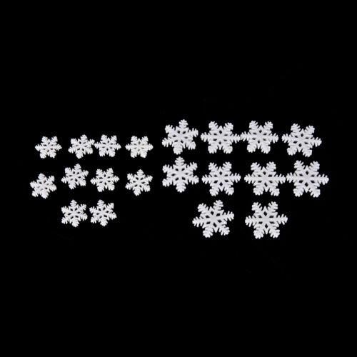 10//30 Pcs White Snow Flake Merry Christmas Xmas Resin Flat Backs Crafts LY