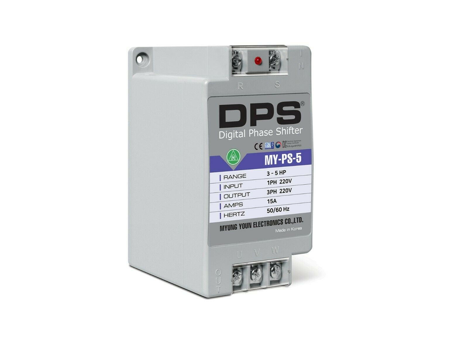1 Phase to 3 Phase Converter, MY-PS-5, Best for 3HP(2.2KW) 9 Amp 220-240V Motor