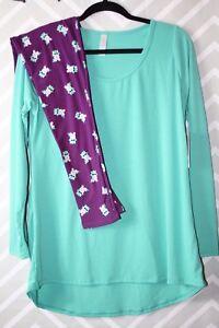 Lularoe Unicorni M Outfit Nwt Lynnae Leggings Os rA1rq8U