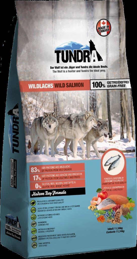 Tundra Trockenfutter Lachs 11,34 Kg Premium Salmon Hundefutter getreidefrei