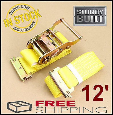 12x E Track Fitting 8mm O Ring Van Truck Enclosed Trailer Cargo Tie Down Srap