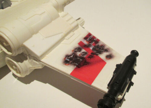 X-WING BATTLE DAMAGE CUSTOM REPLACEMENT CLEAR STICKERS for VINTAGE STAR WARS