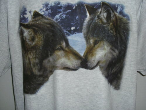 WOLF /'S KISS  BRAND NEW W//O TAGS UNISEX COTTON BLEND TEE SHIRT IN SIZE Large