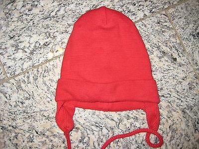 Dicke Strickmütze Mütze Farbe Rot Ca. 36 Cm Umfang Ungedehnt Und Ein Langes Leben Haben.