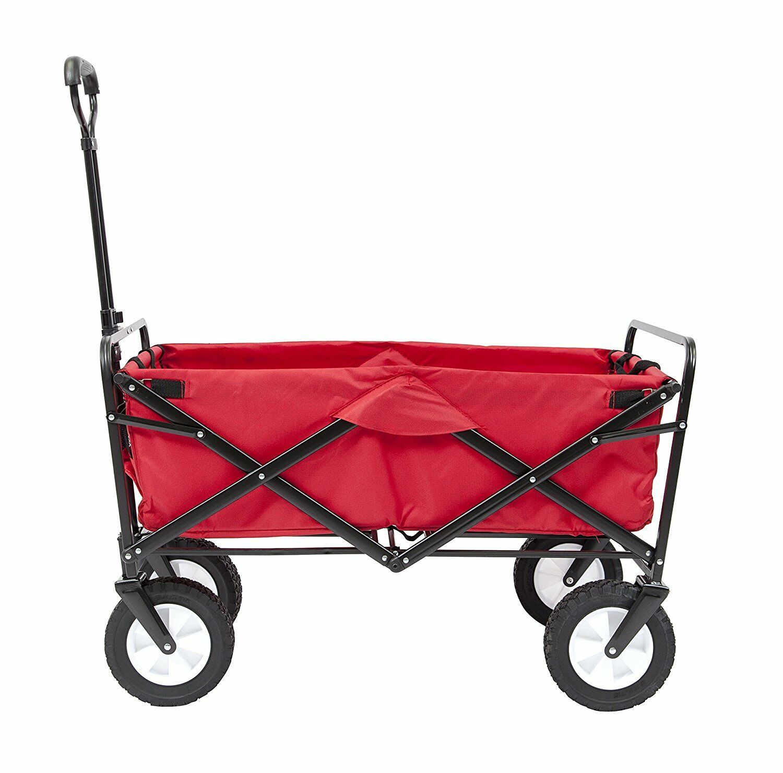 Cochero de compras Jugara jardín de utilidad plegable Cochero con ruedas todo terreno rojo