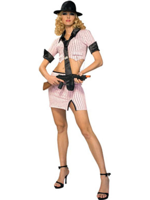 Gangster Romper Costume Womens Mob Babe Costume