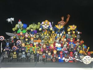 Marvel-Avengers-4-Iron-Man-Thanos-Super-hero-Custom-Fit-Lego-Mini-figure-toy