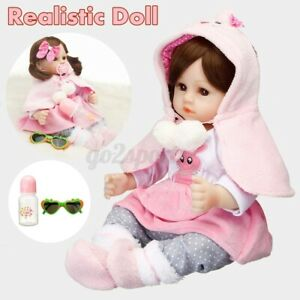 19-034-Handmade-Reborn-Baby-Doll-Girl-Soft-Vinyl-Real-Life-Newborn-Dolls-Washable