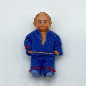 Vintage-EDI-Germany-3-034-Plastic-Dollhouse-Doll