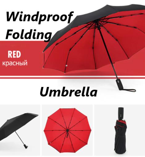 Windproof Double Automatic Folding Luxury Large Business Umbrella For Men Women