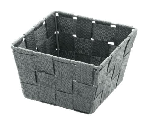 WENKO Aufbewahrungskorb Adria Mini Grau quadratisch Füllkörbchen Wäschebox