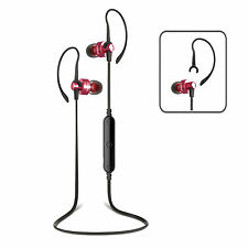 Wireless Bluetooth 4.0 Red/Black Headphones Headset iPhone Samsung Android