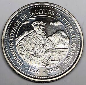 # 7326C     CANADA   TRADE DOLLAR TOKEN  COIN,  JACQUES  CARTIER    1984