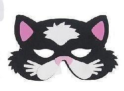 enfants en mousse eva animal masques Noir masque de chat oreilles roses déguisements
