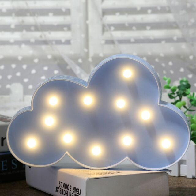 FOFO 3D USB Acrylic Night Light LED Table Desk Bedroom Decor Gift Warm White Lamp Style 2