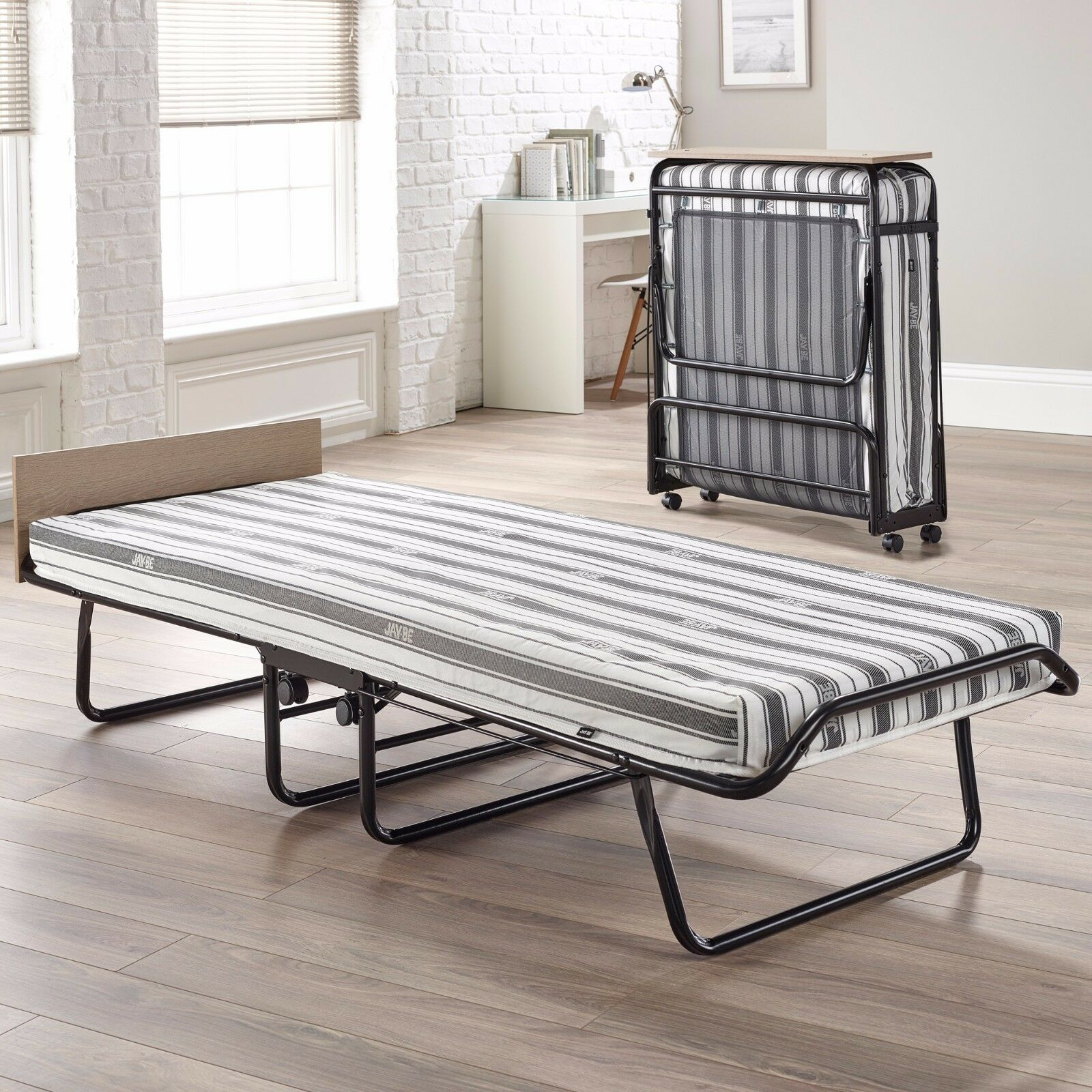 - Jaybe Guest Supreme Single Double Black Folding Bed With Airflow