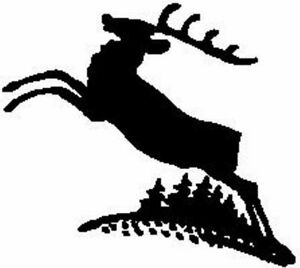 Christmas Reindeer Silhouette.Details About Christmas Reindeer Silhouette Leaping Unmounted Clear Stamp Approx 60x53mm