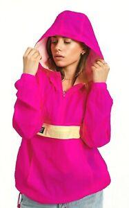 Stussy-Women-039-s-Aydin-Nylon-Crinkle-Anorak-Jacket-Pink-XS-S-M-215103