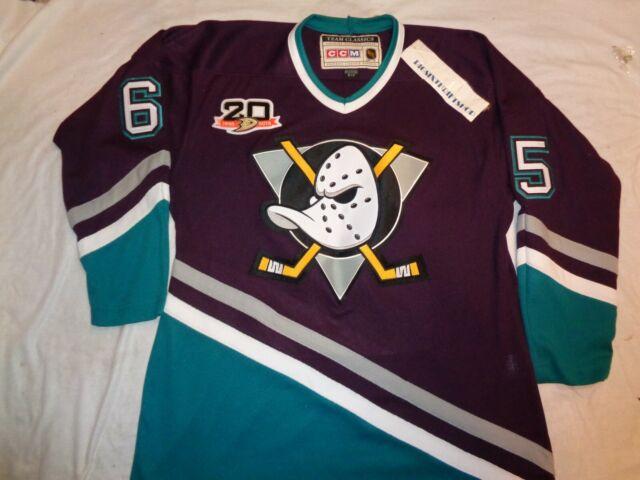 sale retailer f4b5b aa5a9 CCM Team Classic Anniversary Anaheim Ducks Etem #65 NHL Jersey Size Small  Adult