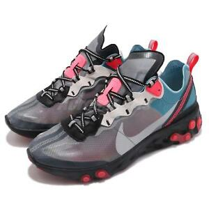 2d4dad505940 Nike React Element 87 Blue Chill Solar Red Grey Mens Running Shoes ...