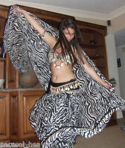 VEIL-BLACK-WHITE-ZEBRA-ANIMAL-PRINT-45x108-Made-India-BELLY-DANCE-BEACH-WEAR