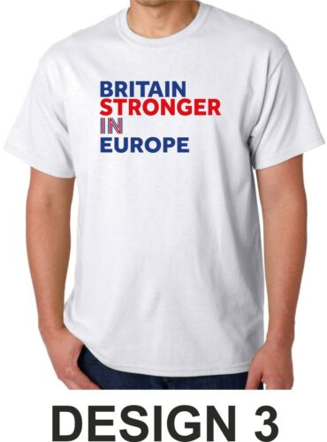 Britain Stronger In Europe T Shirt I/'m In Campaign EU IN Stay Referendum UK