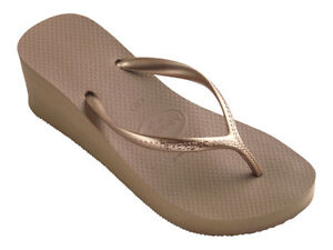 ca7984031f6a Havaianas Women`s Flip Flops High Fashion Rose Gold Wedge Sandal 2 1 ...