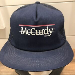 Vtg-90s-McCurdy-Seeds-trucker-hat-cap-K-products-Made-in-USA