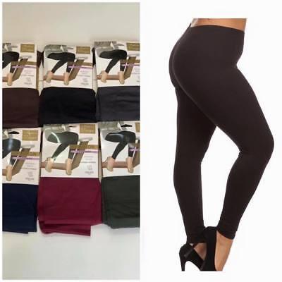 Womens Ladies Thermal Leggings Girls Fleece Legging Warm Tight Thick Winter 8-18