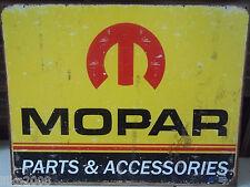 MOPAR PARTS & ACCESSORIES;ANTIQUE-STYLE METAL  WALL SIGN 40X30CM CHRYSLER/JEEP