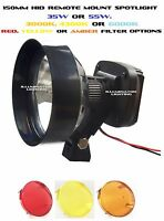 Hid 35w Or 55w 150mm Spotlight Remote Roof Mount Adjustable Focus 3000k To 6000k