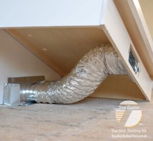 Details About Toe Ductor Baseboard Vent Under Cabinet Toe Kick Ducting Kit