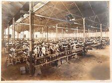Fotografia sala montaggio motori aviazione anni '30  Militaria IIWW 20x26