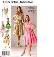 Women Retro Vintage 1950's Dress Sewing  Pattern Simplicity 1459 Size 16-24 #rv