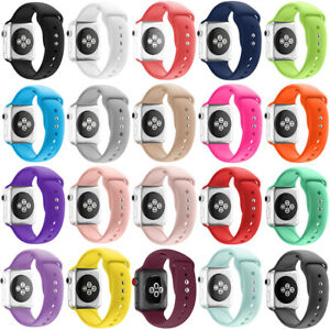 For Apple Watch Series 5 4 3 2 40 44 Replacement Silicone Wrist Sport Band Strap Ebay