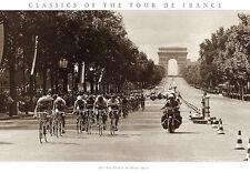 Tour de France CHAMPS ELYSEES FINISH 1975 Vintage Cycling Poster Print