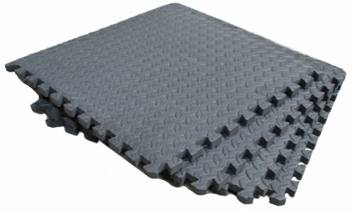 "12mm EVA Soft Floor Gym, Yoga, exercise Mats 24"" x 24"""