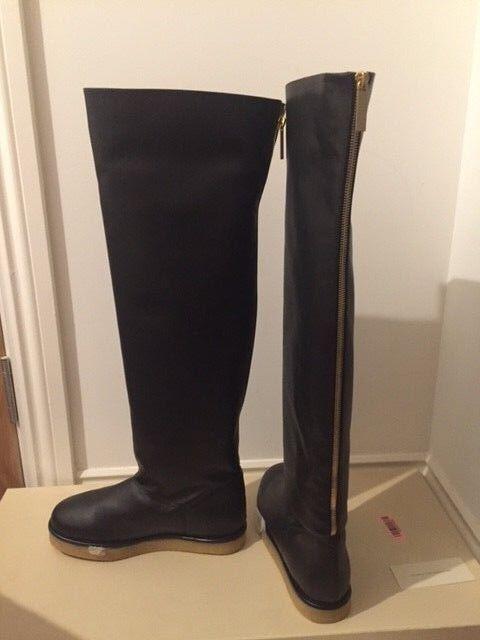 Stella McCartney Imitación Imitación Imitación Cuero Brompton 'botas /EU Reino Unido 43e30e