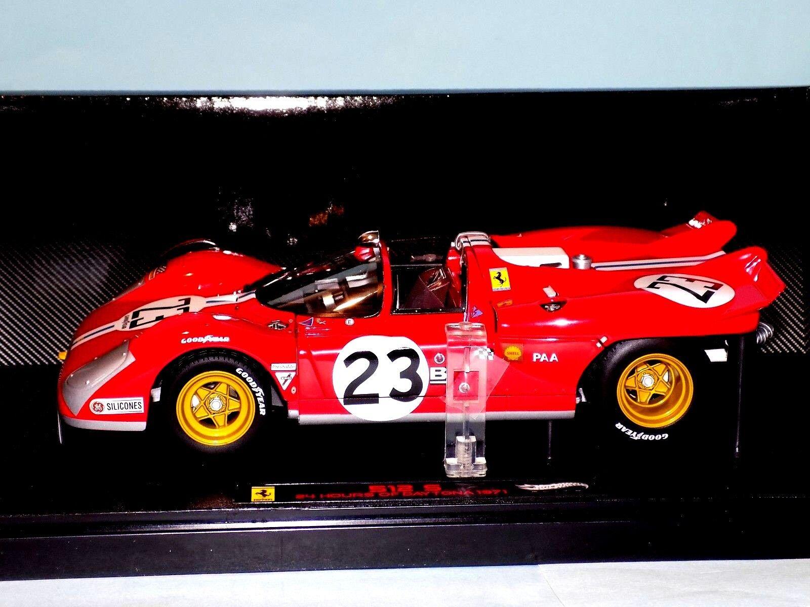 Ferrari 512 s   23 daytona 1971 b.adamovicz elite hot wheels t6930 1,18