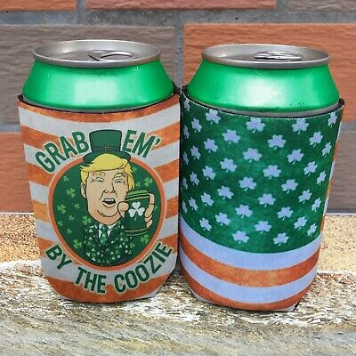Trump Can Cooler Party Favor Coozie For St Patrick's Day Irish Beer Sleeve Gag Other Bar Tools & Accessories