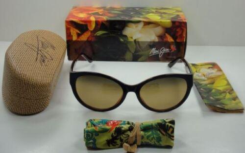 MAUI JIM Venus Pools Sunglasses HS100-03D Polarized Women NavyBlue Brown Cat Eye