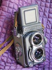 Yashica 44 TLR 4x4cm 127 film Twin Lens Reflex GREY 60mm 3.5 w/ cap + case MINT