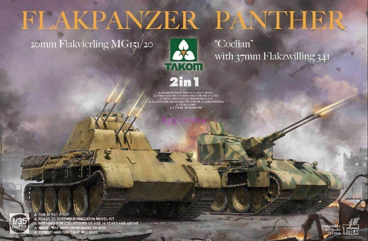 TAKOM 2105 1 35 Flakpanzer Panther 2 in 1